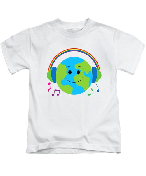 Our Musical World Kids T-Shirt by A