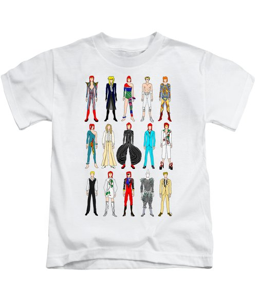 Outfits Of Bowie Kids T-Shirt by Notsniw Art