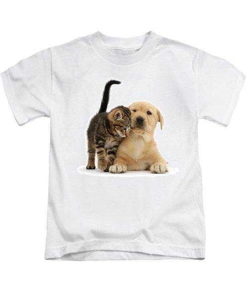 Over Friendly Kitten Kids T-Shirt