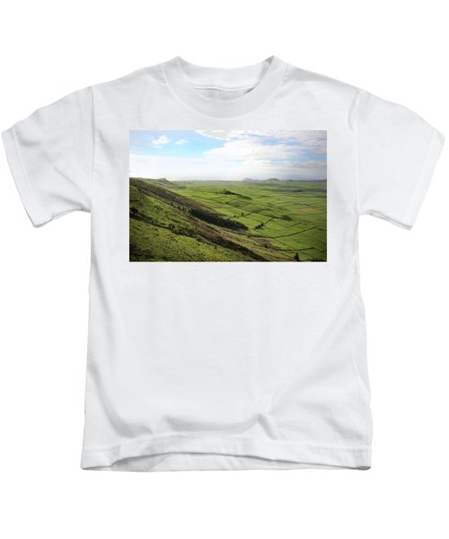 Over The Rim On Terceira Island, The Azores Kids T-Shirt