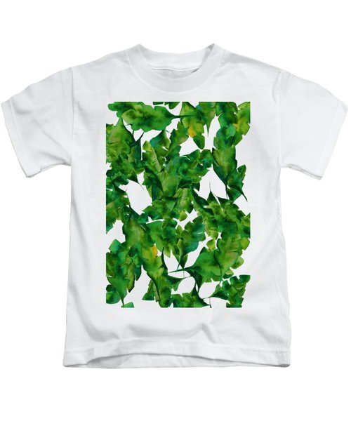 Overlapping Leaves Kids T-Shirt