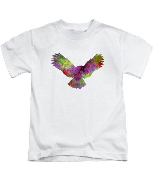 Owl 02 In Watercolor Kids T-Shirt