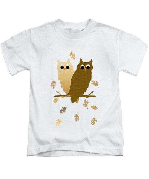 Owl Pattern Kids T-Shirt