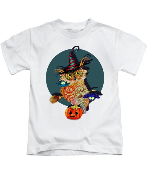 Owl Scary Kids T-Shirt by Isabel Salvador