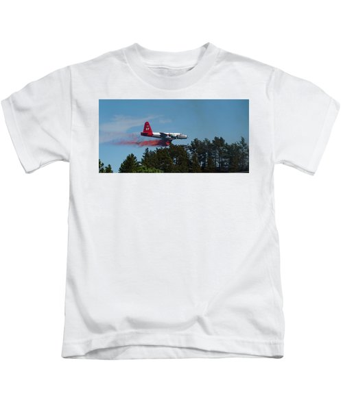 P2v Red Canyon Fire Kids T-Shirt
