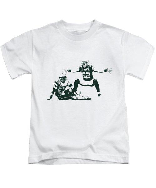 Packers Clay Matthews Sack Kids T-Shirt