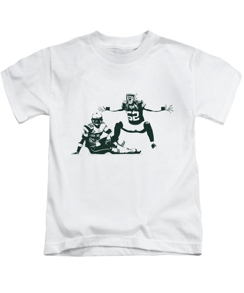 Packers Clay Matthews Sack Kids T-Shirt