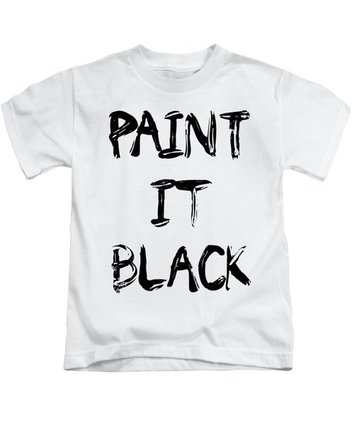 Paint It Black Pop Art Kids T-Shirt