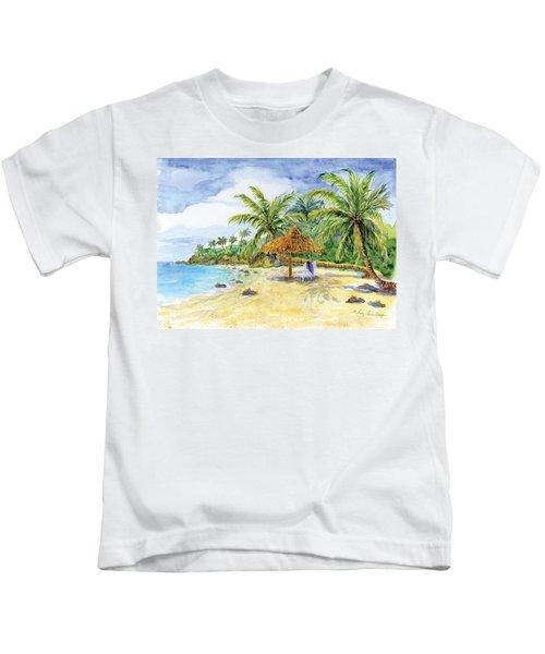Palappa N Adirondack Chairs On A Caribbean Beach Kids T-Shirt