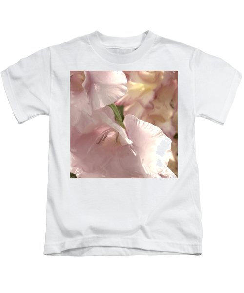 Pale Pink Glads Kids T-Shirt