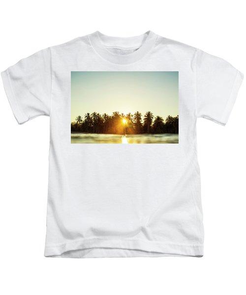 Palms And Rays Kids T-Shirt
