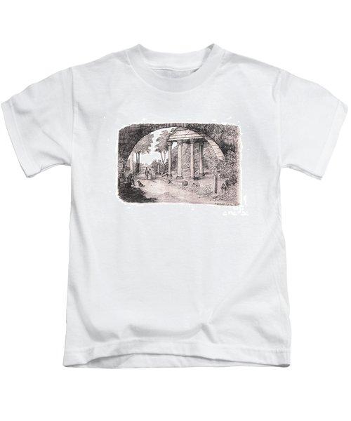 Pan Watching Ruins Of The Past Kids T-Shirt