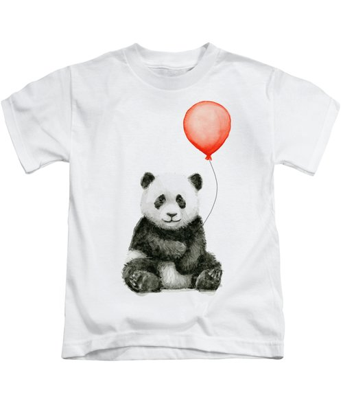 Panda Baby And Red Balloon Nursery Animals Decor Kids T-Shirt