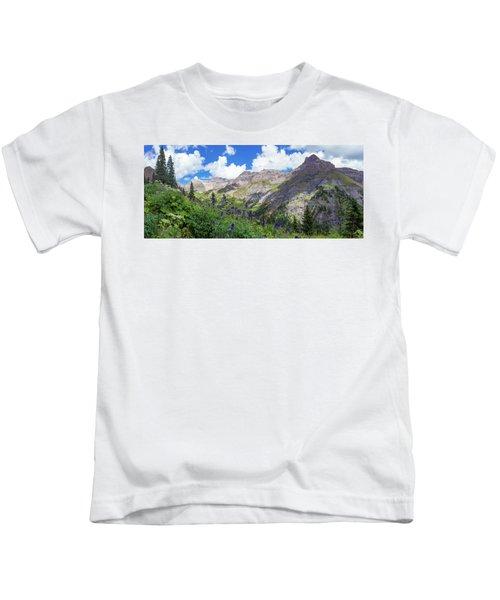 Panorama Of Yankee Boy Basin Kids T-Shirt