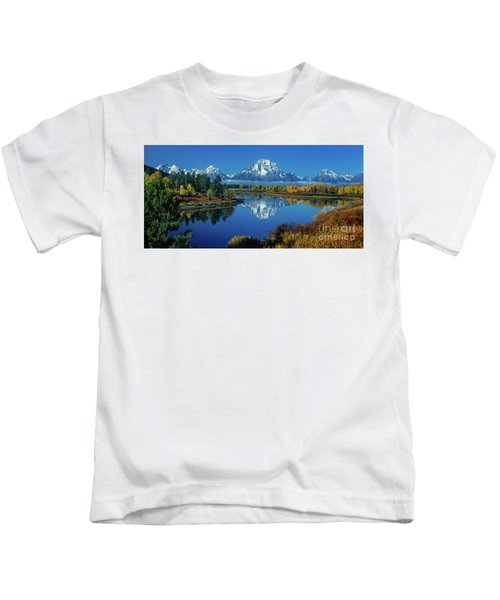 Panorama Oxbow Bend Grand Tetons National Park Wyoming Kids T-Shirt