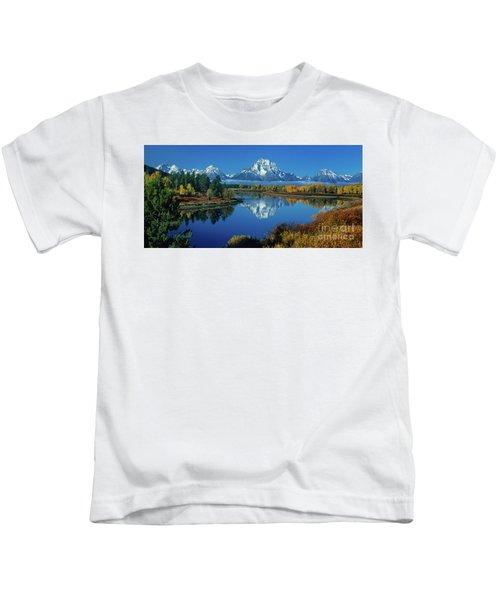 Panorama Oxbow Bend Grand Tetons National Park Wyoming Kids T-Shirt