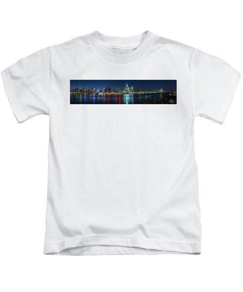 Panoramic Skyline-manhattan Kids T-Shirt