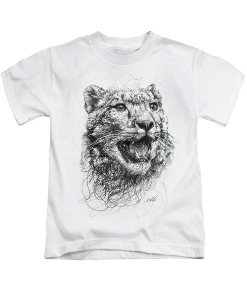 Leopard Kids T-Shirt by Michael Volpicelli