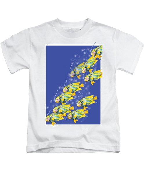 Paper Sculpture Fish Kids T-Shirt