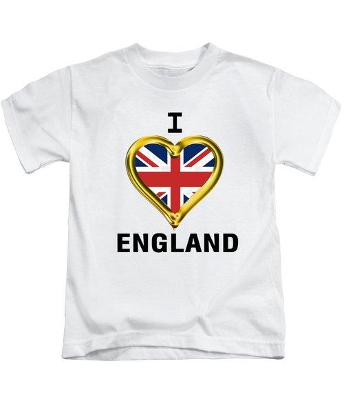 Parchment Background I Heart England Kids T-Shirt
