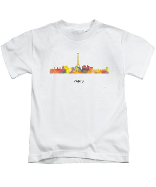 Paris France Skyline Kids T-Shirt