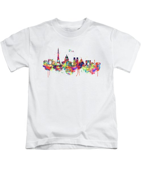 Paris Skyline 2 Kids T-Shirt