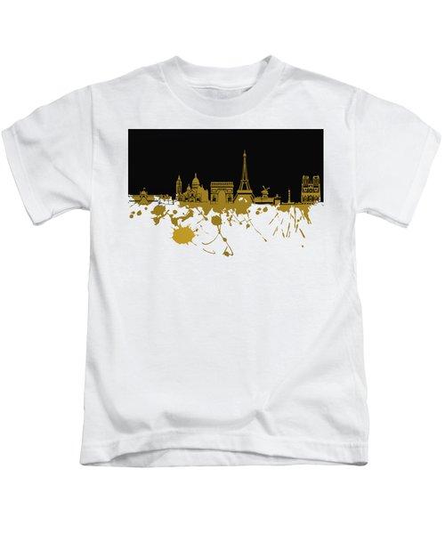 Paris Skyline  Kids T-Shirt