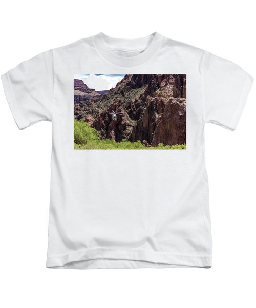 Park Service Helicopter In The Grand Canyon  Kids T-Shirt