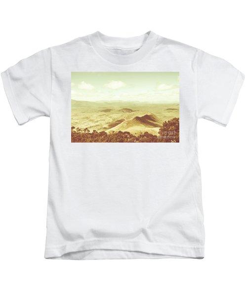 Pastel Tone Mountains Kids T-Shirt