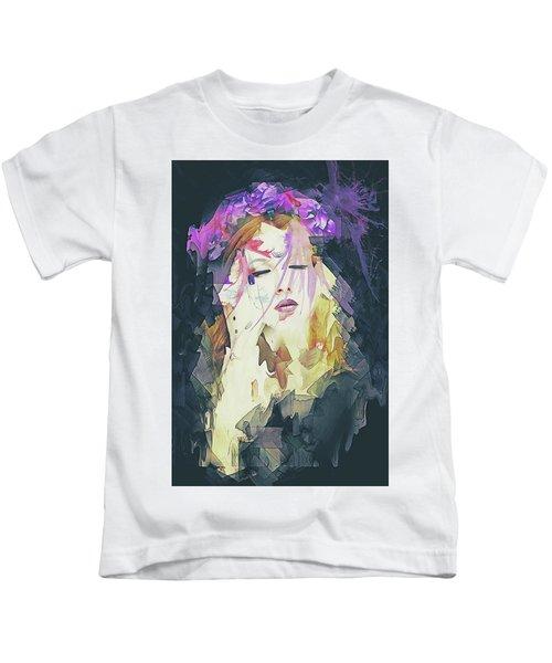 Path Abstract Portrait Kids T-Shirt