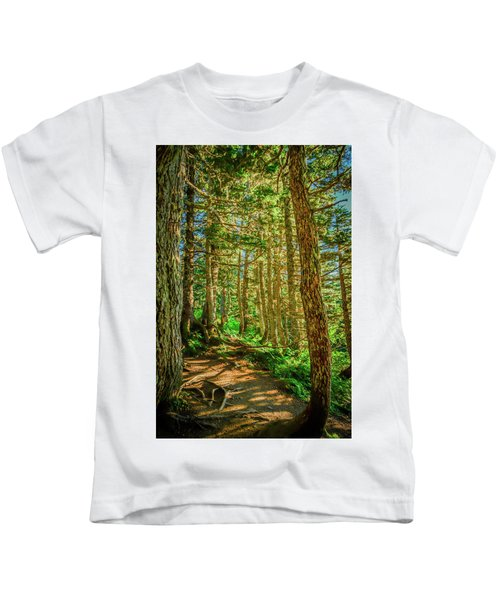 Path In The Trees Kids T-Shirt
