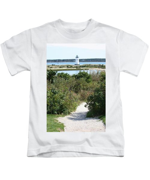 Path To Edgartown Lighthouse Kids T-Shirt