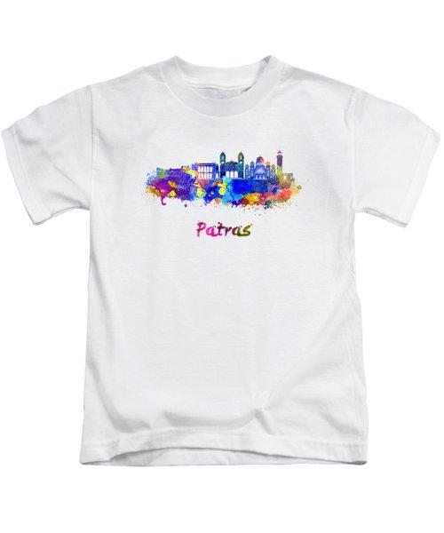 Patras Skyline In Watercolor Kids T-Shirt