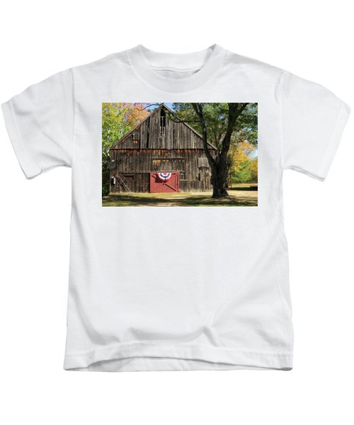 Patriotic Barn Kids T-Shirt