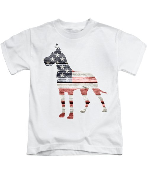 Patriotic Great Dane Kids T-Shirt