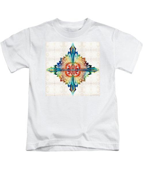 Pattern Art - Color Fusion Design 1 By Sharon Cummings Kids T-Shirt