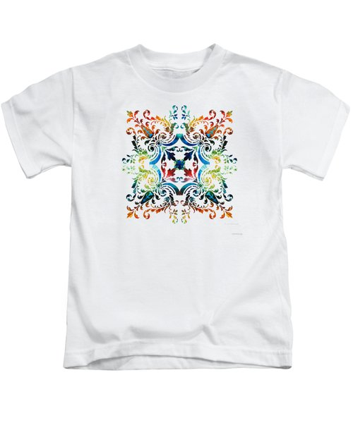 Pattern Art - Color Fusion Design 7 By Sharon Cummings Kids T-Shirt