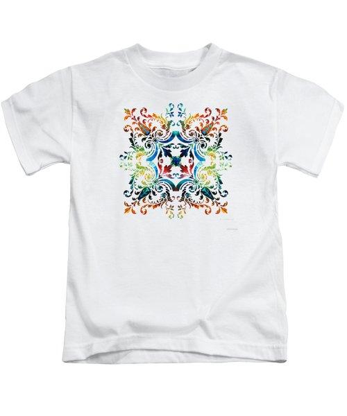 Pattern Art - Color Fusion Design 7 By Sharon Cummings Kids T-Shirt