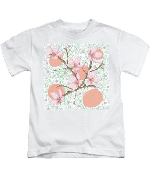 Peach Blossom Pattern Kids T-Shirt