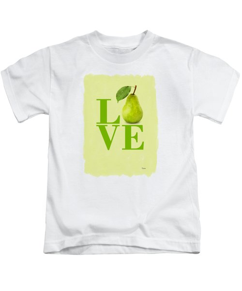 Pear Kids T-Shirt by Mark Rogan