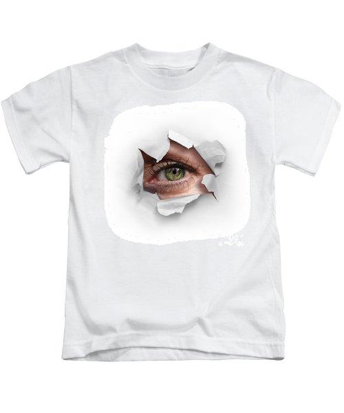 Peek Through A Hole Kids T-Shirt