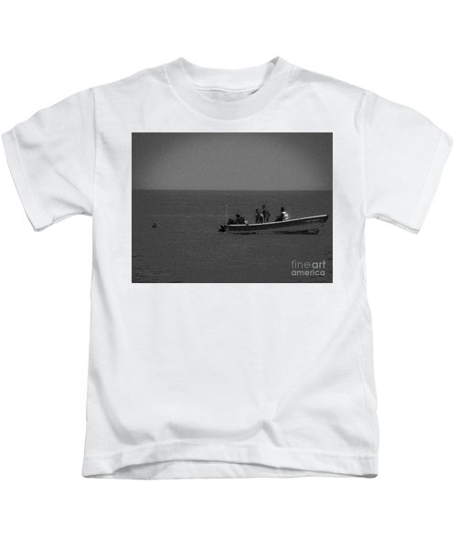 Pelican And The Fishing Boat Kids T-Shirt