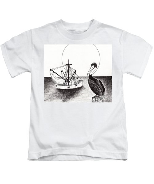 Pelican Fishing Paradise C1 Kids T-Shirt