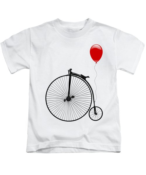 Penny Farthing With Red Balloon Kids T-Shirt