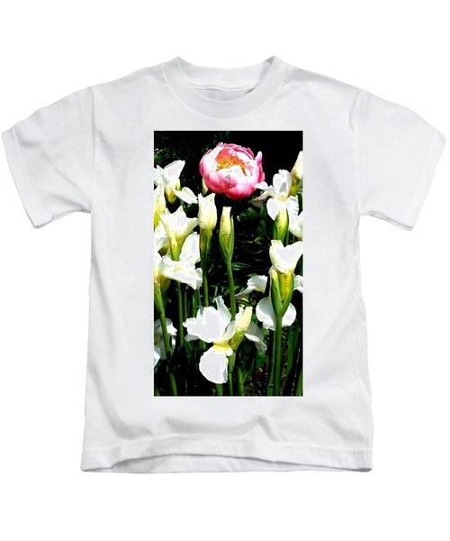 Peony And Iris Kids T-Shirt