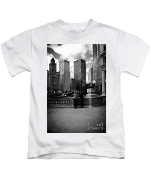 People And Skyscrapers Kids T-Shirt