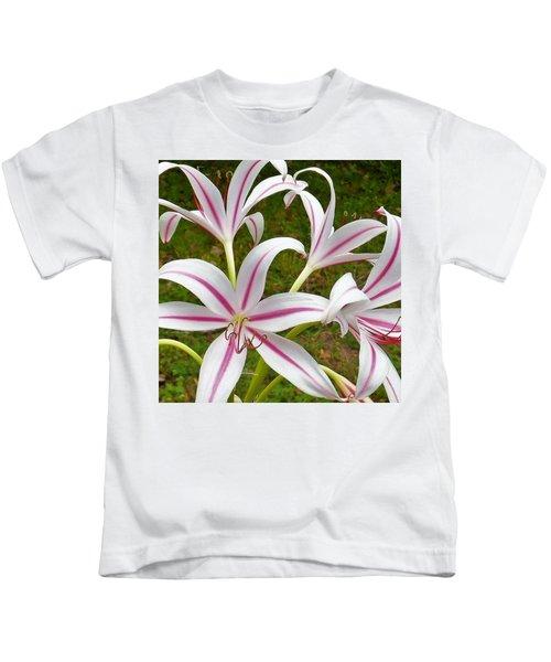 Peppermint Lilies Kids T-Shirt
