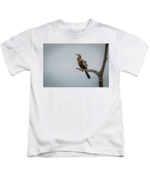 Perched Anhinga Kids T-Shirt