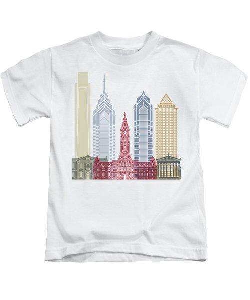 Philadelphia Skyline Poster Kids T-Shirt