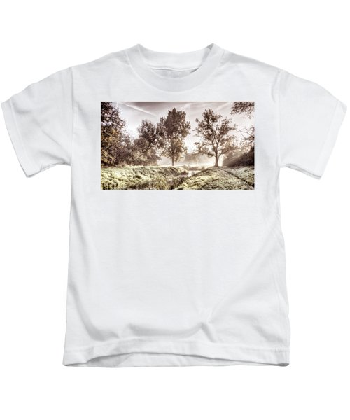 Pictorial Autumn Landscape Artistic Picture Kids T-Shirt